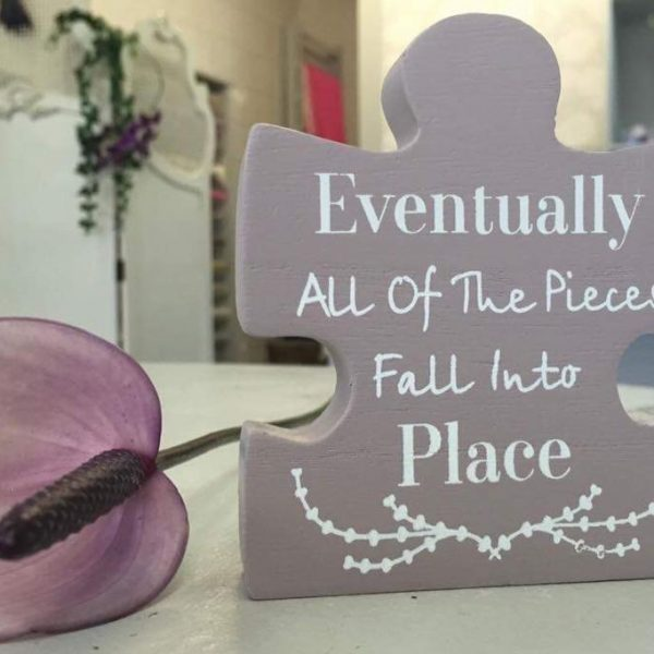 Eventually all of the pieces fall into place Jigsaw piece £3.00