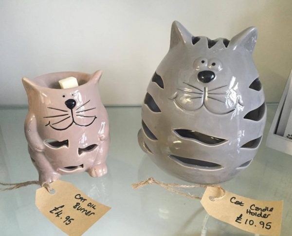 Cat Candle Holders Small £4.95, large £10.95